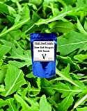 Virgin Seed Supply Slow Bolt Arugula 500 Count Seed Pack Organic Non-GMO Heirloom Variety