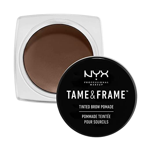 Nyx Tame & Frame Brow Pomade in Chocolate or Brunette | 10 Beauty Products Olive Skin Tone Beauty Girls Need, check it out at http://makeuptutorials.com/olive-skin-tone-makeup-tutorials/