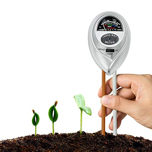 XLUX Soil Test Meter Kit for Moisture, Light & pH, for Home and Garden, Lawn, Farm, Plants, Herbs & Gardening Tools Plant Care