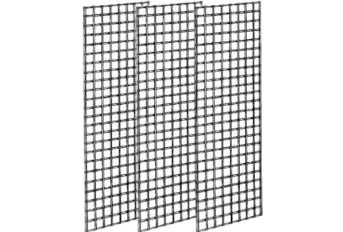 Econoco Commerical Grid Panels Pack of 3 2 Width x 5 Height Renewed White