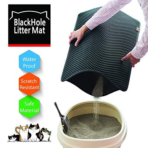 (Moonshuttle Blackhole Rectangular Cat Litter Mat, 30 X 23-Inch, Dark Gray)