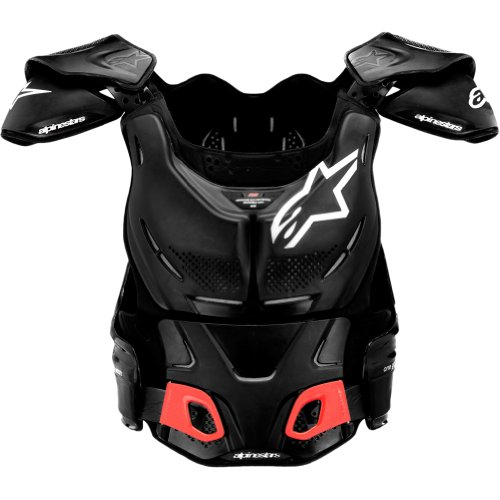 Alpinestars BNS A-8 Men's Roost Deflector Dirt Bike Motorcycle Body Armor - Black/White / Small/Medium by Alpinestars