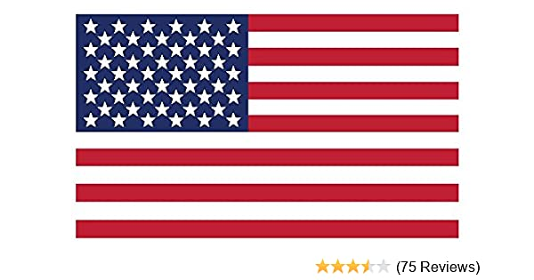 Custom Graphic with Vivid Colors American Flag Vinyl Decals Rear Window or Glass 12-Pack Small Maco Press Indoor Home Car or Truck Use for Windshield 3 x 5 Inc