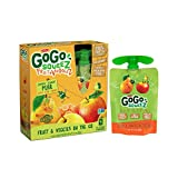 Cheap GoGo SqueeZ Fruit & VeggieZ on the Go, Apple Pear Carrot, 3.2 Ounce Portable BPA-Free Pouches, Gluten-Free, 4 Total Pouches
