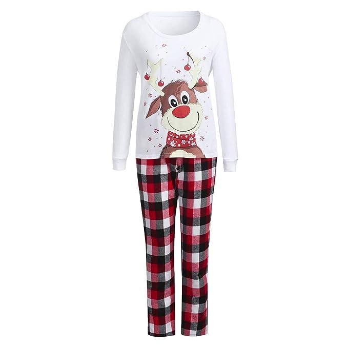 Christmas Pj.Family Christmas Pajamas Set Sleepwear Matching Red Plaid
