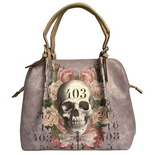 Van Asch Lilac 403 Schädel Handtasche 46 x 29 x 12 cm (ungefähre ohne Griff)