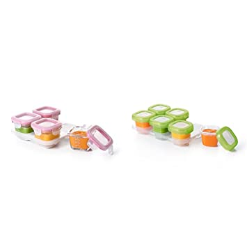 OXO Tot On The Go Blocks Combo, 10 Piece Total, Green U0026 Pink