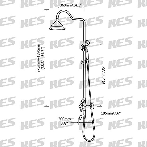 60%OFF KES Bathroom SUS304 Stainless Steel Faucet Showering System Lead-Free with Rainfall Shower Head Adjustable Shower Bar Wall Mount TRIPLE FUNCTION, Brushed Finish, X6656A