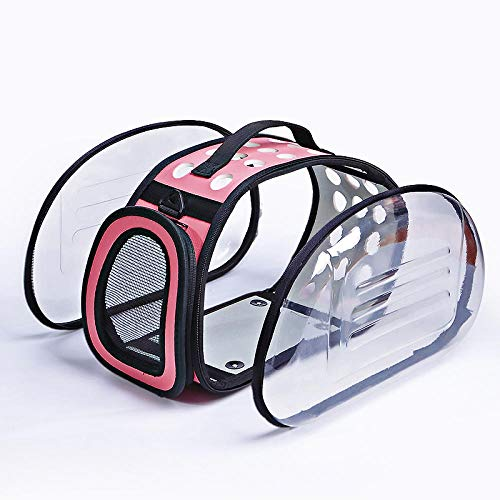 QKEMM Hundetasche Hundetasche Tragetasche Katzentasche Out Tragbare Transparente Reise Tragbar Transporttasche für…