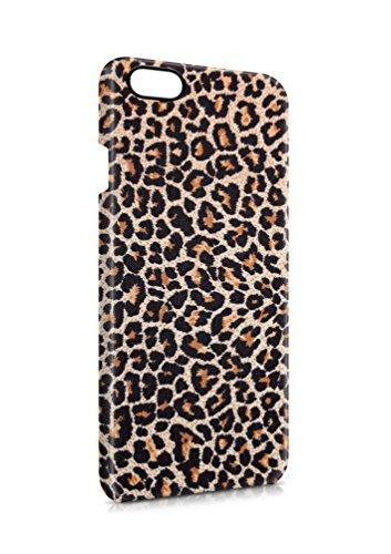3D iPhone 7 Leopard Fell imitat Flipcase Tasche Flip Hülle Case Cover Schutz Handy