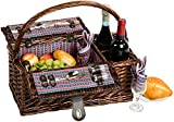 Picnic & Beyond Willow Picnic Basket for 2 by Picnic & Beyond