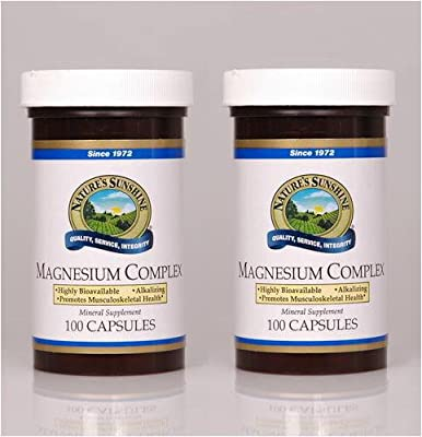 NATURE'S SUNSHINE Magnesium Complex Supplement, 100 Count
