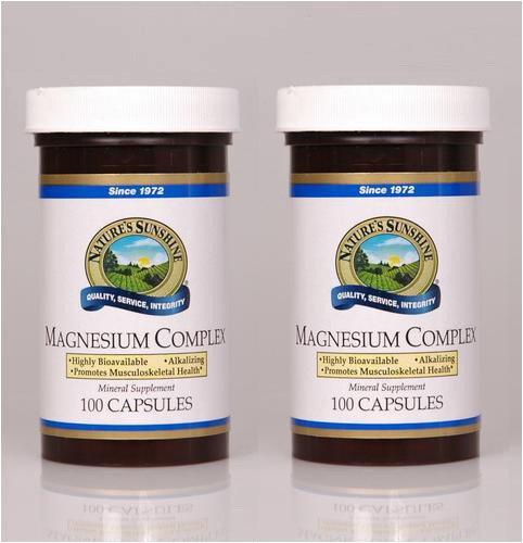 Nature's Sunshine Magnesium Complex 100 Capsules (Pack of 2) (100 Complex Magnesium Capsules)