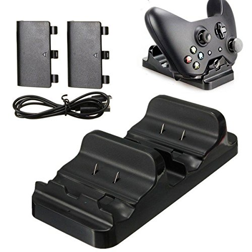 Dual Charging Dock Station Charger+ 2 Batteries for XBOX ONE Wireless Controller