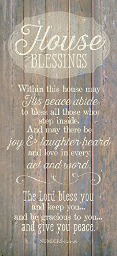 House Blessing...New Horizons Wood Plaque by Dexsa (Blessing Basket)
