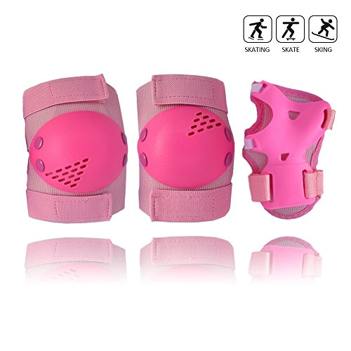 Child Kids' Protective Gear Set, Knee Pads Elbow Pads with Wrist Guards for Cycling Inline Roller Skating Skateboarding Scooter BMX Bike and Other Outdoor Sports Activities (Pink, (Other Skate)