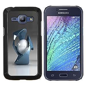 TECHCASE---Cubierta de la caja de protección para la piel dura ** Samsung Galaxy J1 J100 ** --Formas abstractas