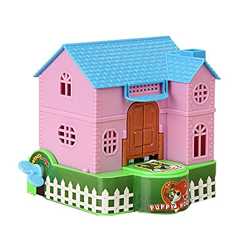 Plastic House Bank - BangBang Creative Piggy Bank Stealing Coins Dogs Puppy House Saving Bank