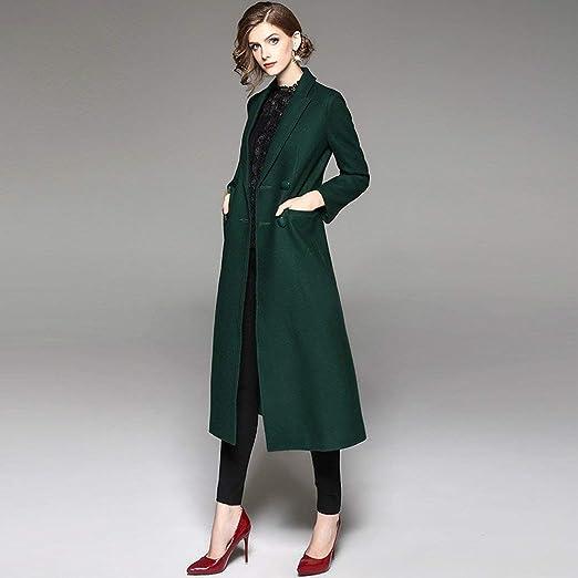 LZY Abrigo de mujer-Otoño Temperamento de moda Señoras Color ...