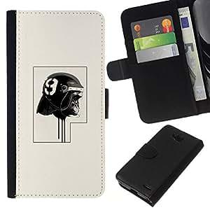 NEECELL GIFT forCITY // Billetera de cuero Caso Cubierta de protección Carcasa / Leather Wallet Case for LG OPTIMUS L90 // Policía del gorila