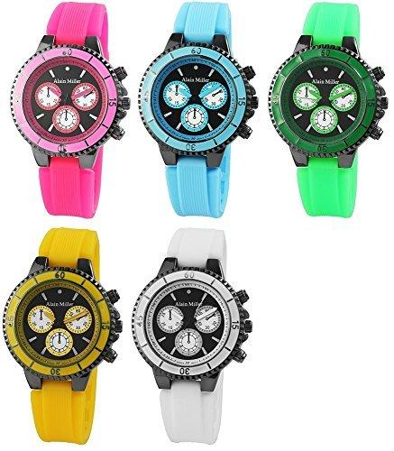 Alain Miller RP4450000030 - Reloj, correa de silicona multicolor: Amazon.es: Relojes