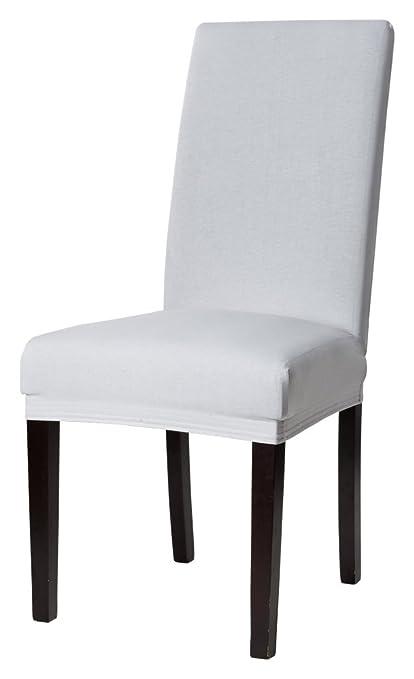 Funda para silla, funda ajustable, color plata: Amazon.es: Hogar