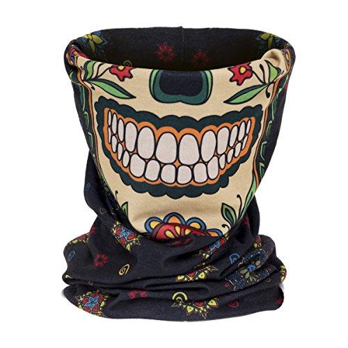 Multifunktionstuch Schlauchtuch Halstuch Multischal Mexican Skull Face [030]