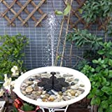 Seaskyer Rainbow Flower Shape Solar Drive Water Pump Fountain Garden Yard Pond Pool Kits