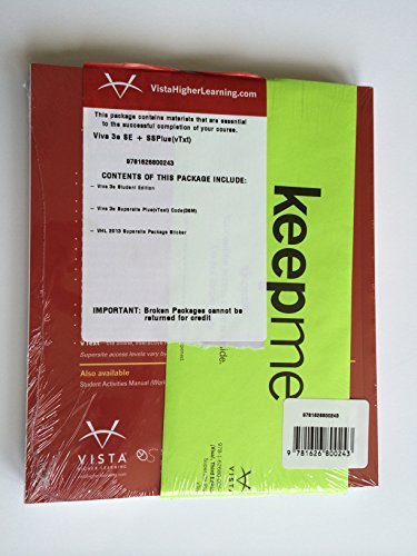 Viva 3rd Edition, Student Edition with Supersite PLUS Code and Student Activities Manual - Bundle