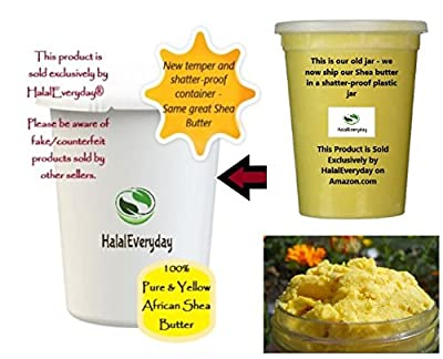 Raw Unrefined Grade A Soft and Smooth African Shea Butter from Ghana - Amazing quality and consistency - comes in a 32 oz Jar - Total weight approximately 24 oz by HalalEveryday by HalalEveryDay