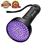 UV Flashlight, Ka June Upgraded 100 LED 395 nm Ultraviolet Blacklight Flashlight Professional