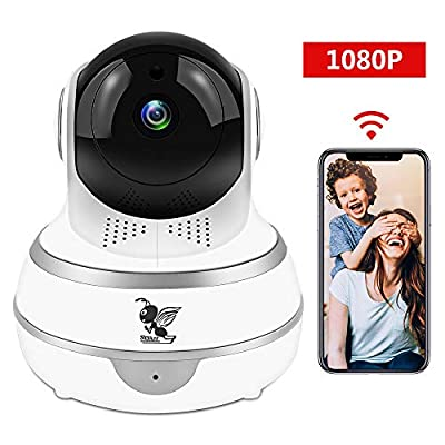 Wireless 1080P Security Indoor Camera WiFi HD Home Surveillance IP Camera with Real-time Activity Alerts Two-Way Audio Night Vision Baby Cam Panorama View for Infant/Elder/Pet/Office from SEYEON