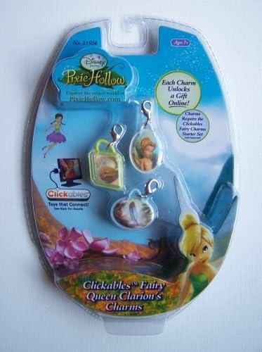 Amazon.com: Disney Fairies Pixie Hollow Clickables Charms - Queen
