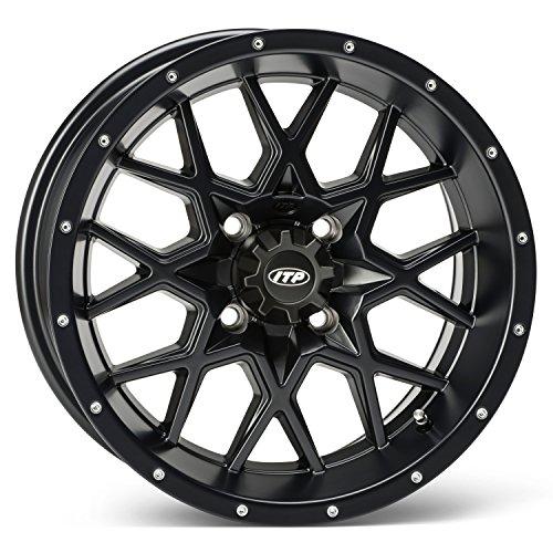 ITP Hurricane Matte Black ATV Wheel Front/Rear 16x7 4/137 - (5+2) [16RB118] (16x7 Alloy 5 Spoke)