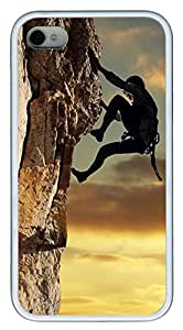 iPhone 4 4s Cases & Covers - Sport Climbing Custom TPU Soft Case Cover Protector for iPhone 4 4s - White