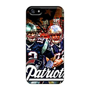 Iphone 5/5s IfO38AzjG Allow Personal Design Attractive New England Patriots Pattern Perfect Hard Phone Cover -JamieBratt