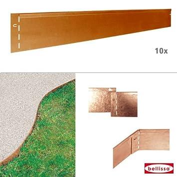 10 Stk. Rasenkante Corten 118 x 13 cm 10129: Amazon.de: Garten
