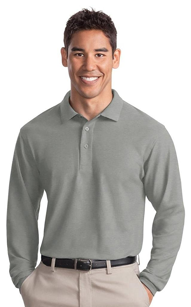 Port Authority Mens Big And Tall Pique Polo Shirt/_Cool Grey/_XXX-Large Tall