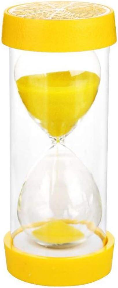 SONGVEN Lemon Hourglass 5 mins Tooth Brushing Timer Durable Fruit Sand Timer Hourglass Sand Clock Timer Shower Timer Multicolor Sand Watch Clock Home Decoration Accessories (5 Mins Lemon)