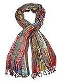 Bohomonde Jivala Scarf, Woven Reversible Striped Pashmina Scarf, hand made in India Festival