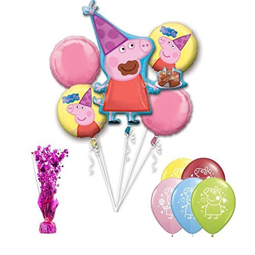 Peppa Pig Balloon Bouquet 11pc