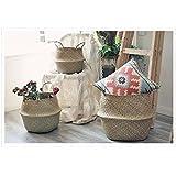 Seegras-Wäschekorb mit Griffen, 3-teiliges Set, 27x 24cm, 32x 27,9cm, 36x 32cm