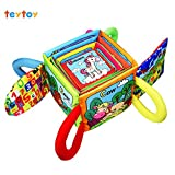 My First Words Stacked Toys TEYTOY Animal Series Early Education Stacked Crinkle Cloth Baby Toys for 0-24 Months