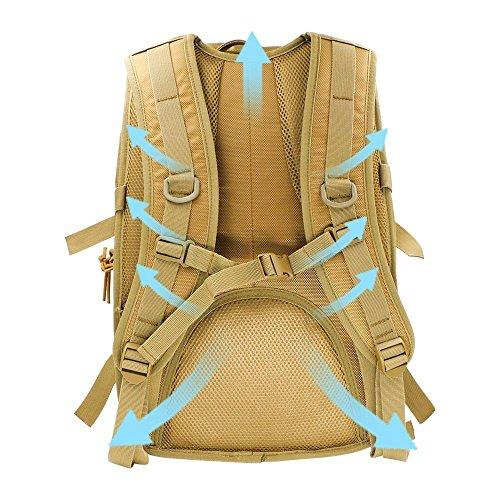 for Protection Outdoor Computer 40 Multicoloured Backpack Unisex Dark Waterproof Bag Trekking Travel Mountaineering Backpack L Khaki Zedtom Trekking Casual 58qzw