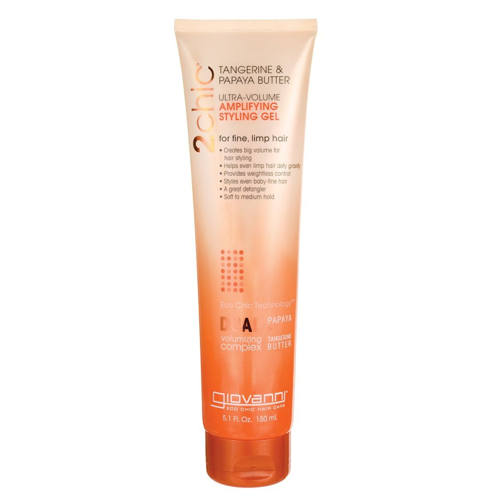 Giovanni 2chic Ultra-Volume Thickening Styling Gel with Tangerine and Papaya Butter 5.1 Fluid Ounces 4246