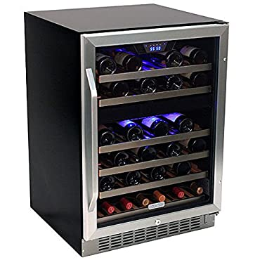 EdgeStar 46-Bottle Built-In Dual-Zone Wine Cooler (CWR461DZ)