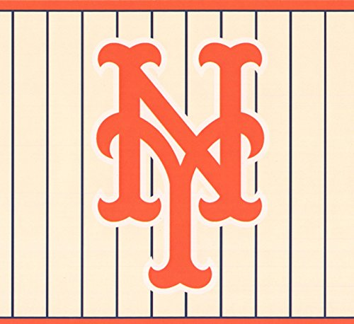 New York Mets MLB Baseball Team Fan Sports Wallpaper Border Modern Design, Roll 15' x - Mlb Tool Team