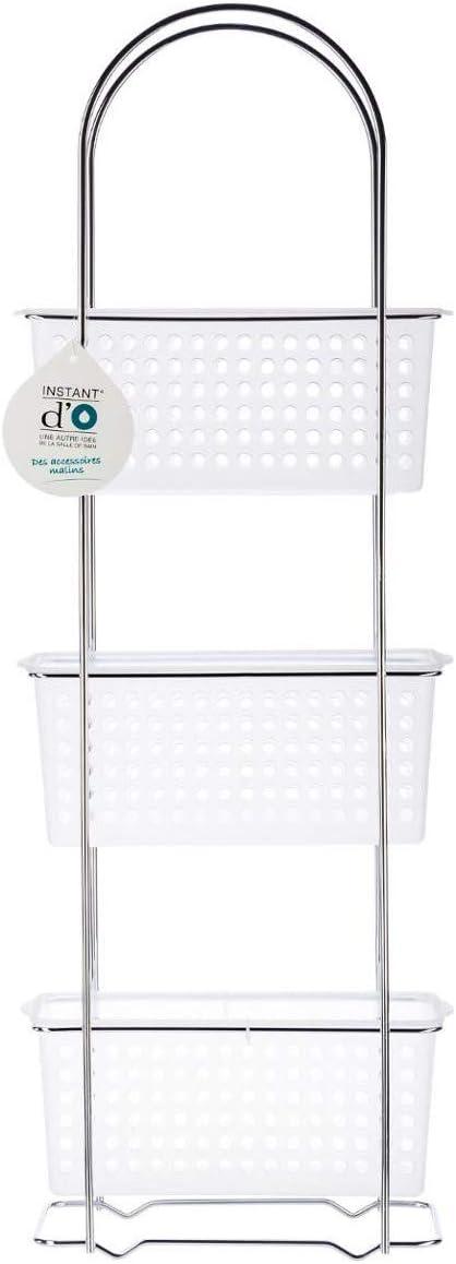 Mobile Scaffale bagno 3 cestini removibili per una sistemazione ottimale dei prodotti