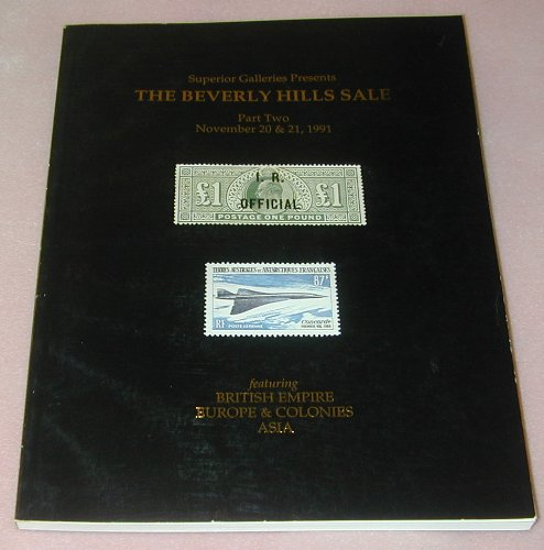The Beverly Hills Sale featuring British Empire, Europe & Colonies, Asia, November 20 & 21, 1991