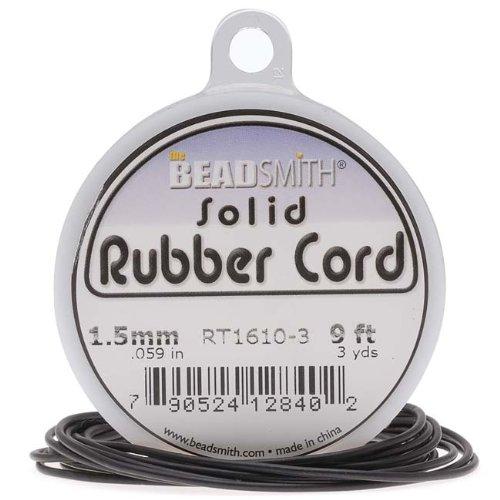 Beadsmith Black Rubber Jewelry Crafts